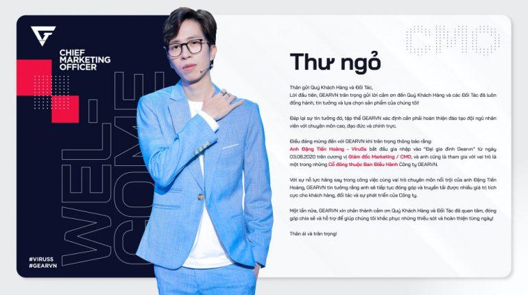 ViruSs Đặng Tiến Hoàng_CMO Gear VN